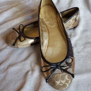 Coach Signature Ballet Flats 8.5